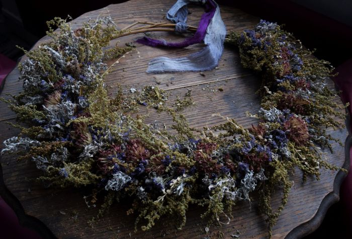 Dried flower wreath Floral Acre Somerset