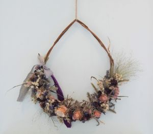 Tapestry Dried Flower Wreath