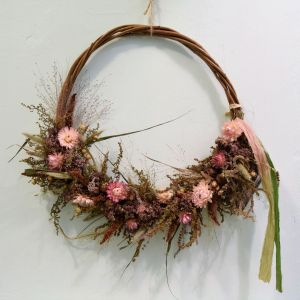 Floral Acre Dried Flower Wreath