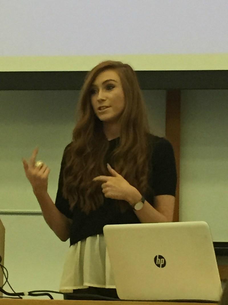 Floralesque Erika Fox at NUIG Career talk 3