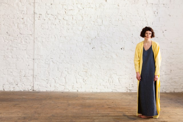 Botany Dress and Bare Yellow Linen Coat We are Islanders Interview Floralesque 3