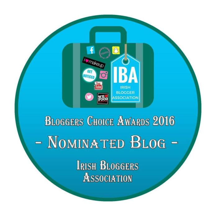 Nominated in the Irish Bloggers Association's Bloggers Choice Awards 2016