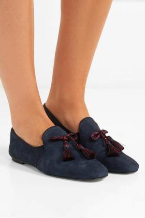 J.CREW Tasseled suede loafers