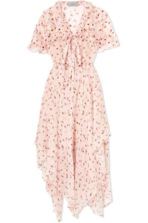 PREEN BY THORNTON BREGAZZI Flora floral-print silk-chiffon midi dress