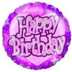 18 inch Shimmer Pink Happy Birthday Foil