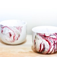 Easy DIY Marbled Ceramics
