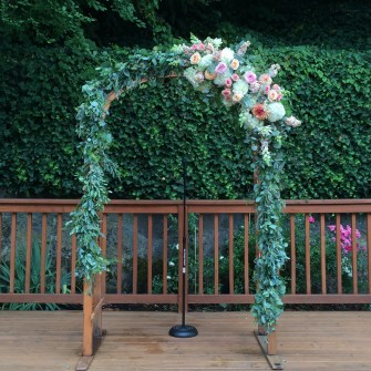 Wooden arbor at Laurelhurst Club
