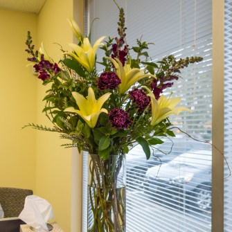 Flowers at a Chiropractic Office