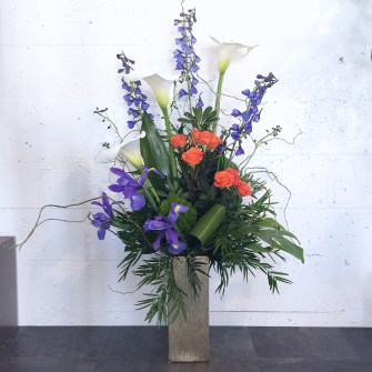 Blue & Orange Arrangement