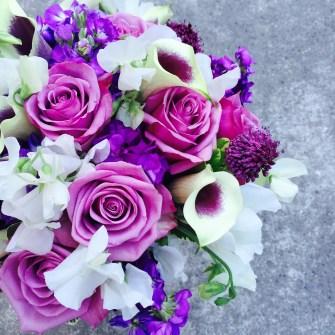Flower arrangements gallery floral sunshine purples white bridal bouquet mightylinksfo
