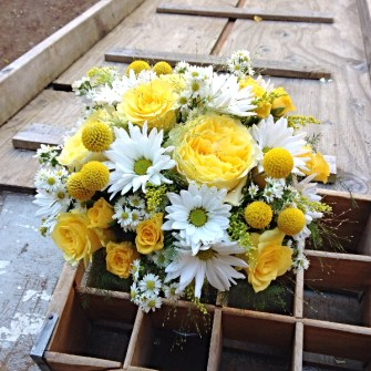 Daisies & garden flowers wedding