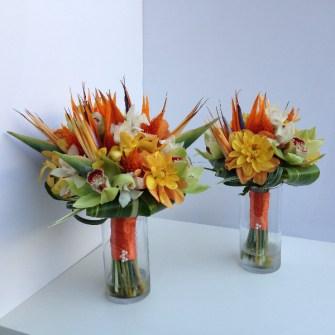 Tropical bridal & bridesmaid bouquet