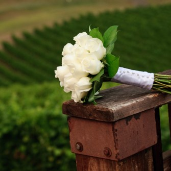classic standard white rose bouquet