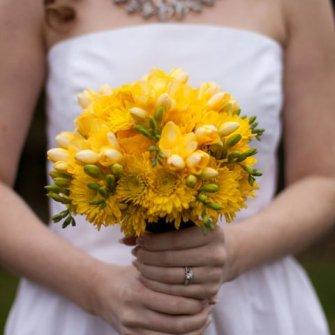 small yellow bouquet