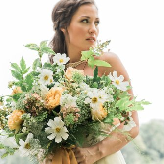 Yellow and white garden bouquet