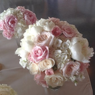 soft pink and white bridal bouquet