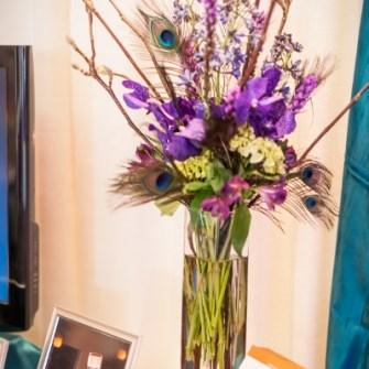 simplier tall floral arrangement