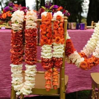 orange & white Indian garlands