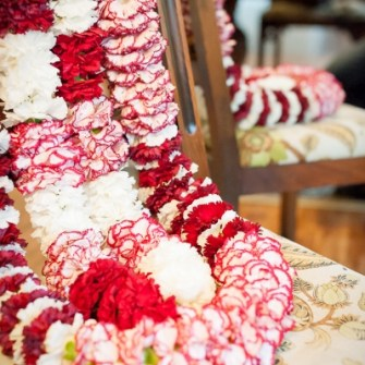 red & white garlands