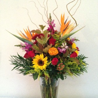 large colorful fall bouquet