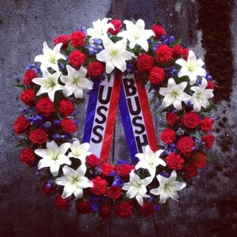 Patriotic Memorial Wreath for USS Bush Reunion event