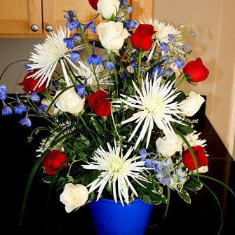 Patriotic 4th Floral Arrangement