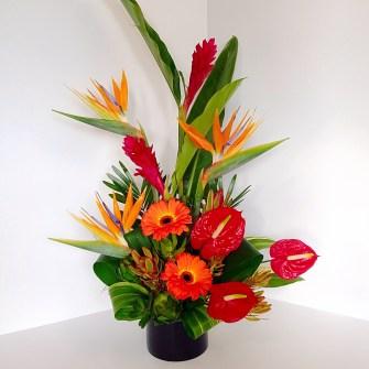 Vibrant tropical arrangement - medium assymetrical