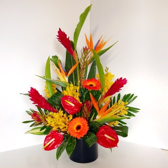 Vibrant tropical arrangement - large