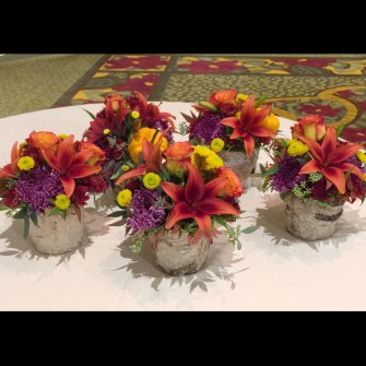 fall centerpieces for a large corporate event