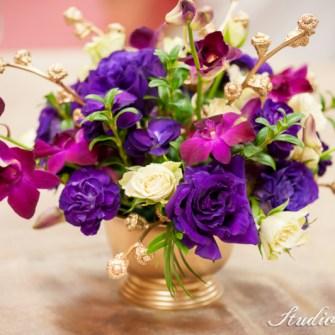 purple & gold flowers