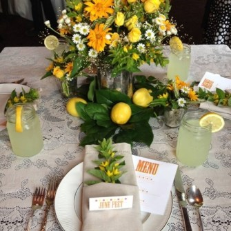 lemonade stand themed flowers