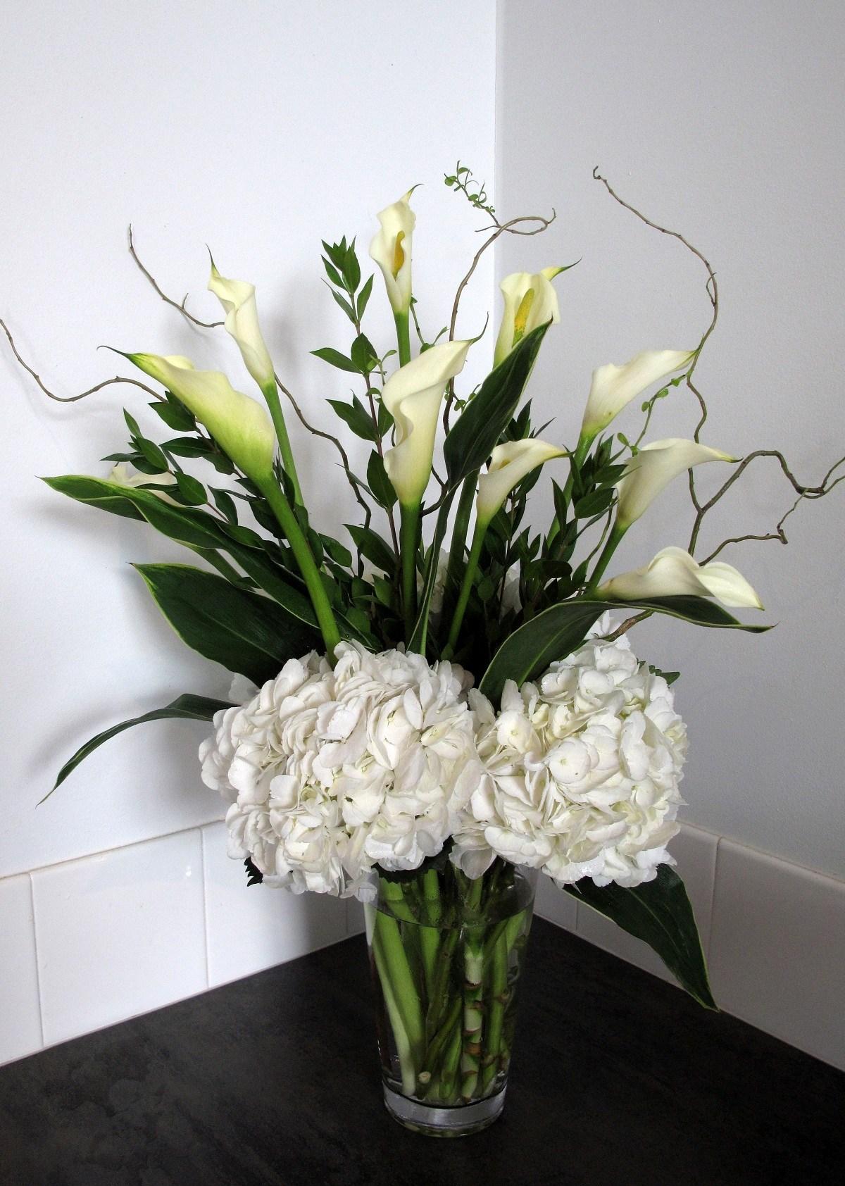 Calla Lilies Hydrangeas Floral Sunshine