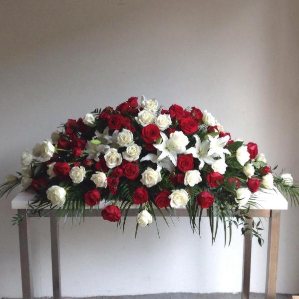 premium casket spray floral