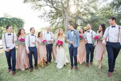 Brennan and Spenser wedding bridal party