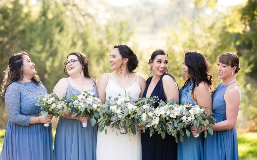 something blue bridesmaid gowns