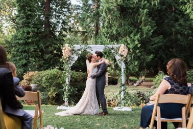 Flora Nova Design Seattle Wedding ceremony arch