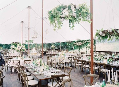 Flora Nova Design Seattle - Hanging Greenery Chandeliers