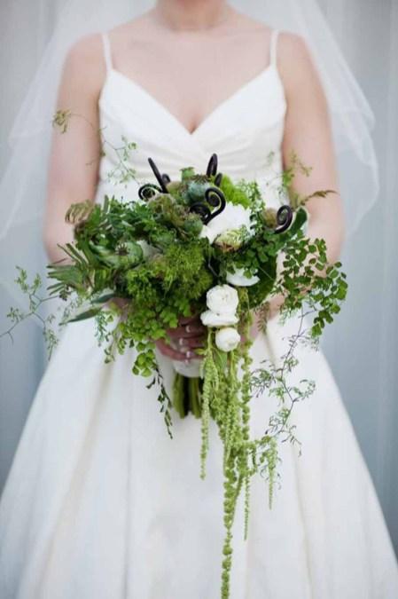 Flora Nova Design Green Wedding Bouquet