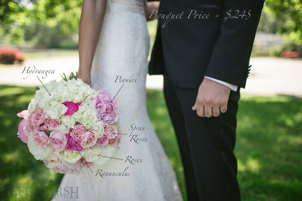 Summer white and pink bouquet recipe- Pricing of a Bouquet - Flora Nova Design Seattle