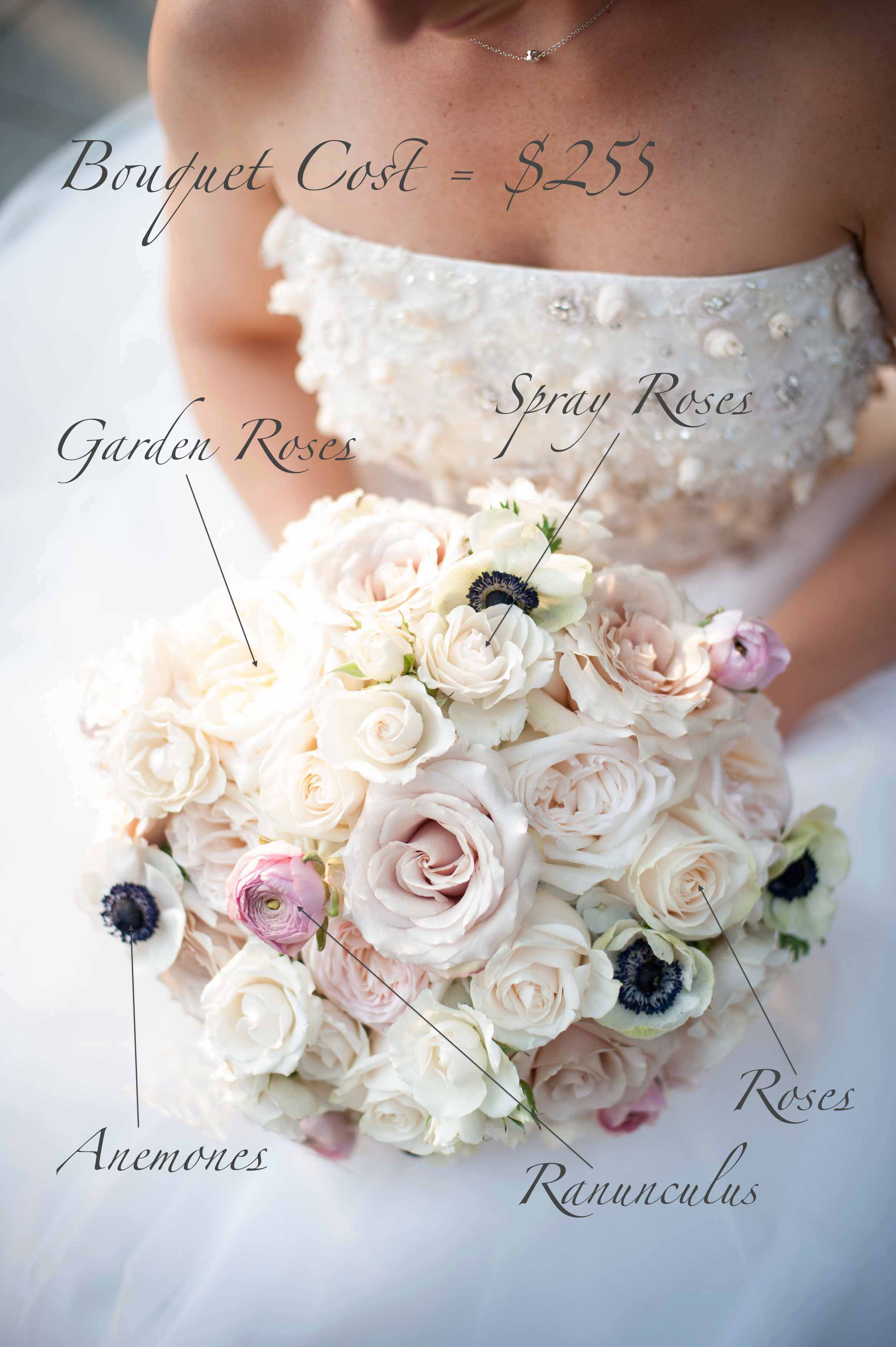 White and blush bouquet recipe - Bridal Bouquet Pricing - Flora Nova Design Seattle