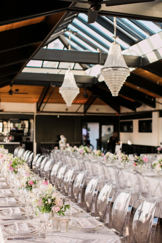 Wedding reception at Olympic Rooftop Pavilion in Ballard, designed by Flora Nova Design Seattle