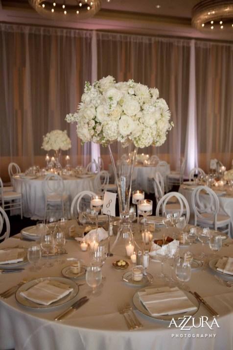 Elegant formal white four seasons wedding Seattle Flora Nova Design