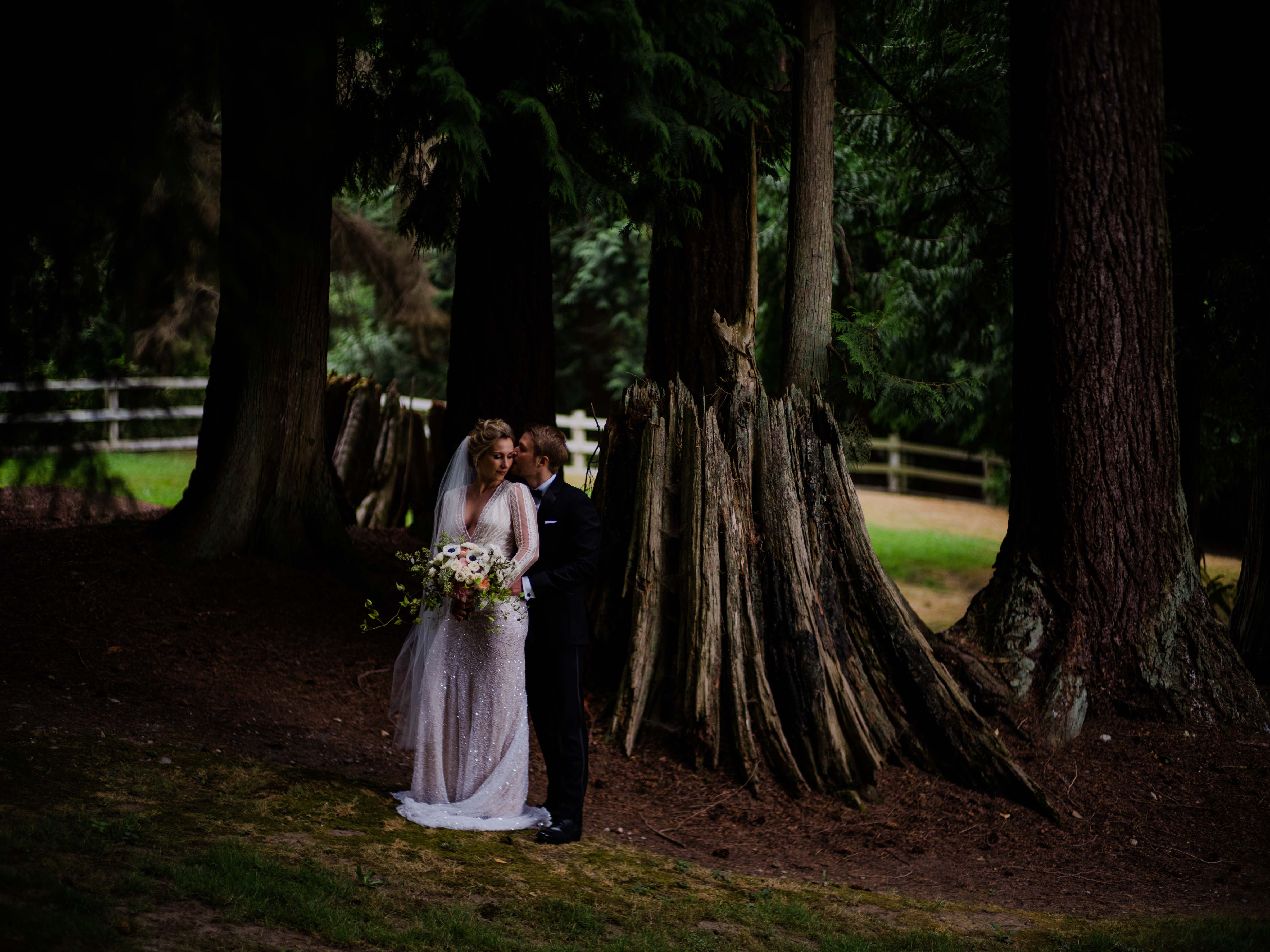 Bride and groom at Chateau Lill wedding