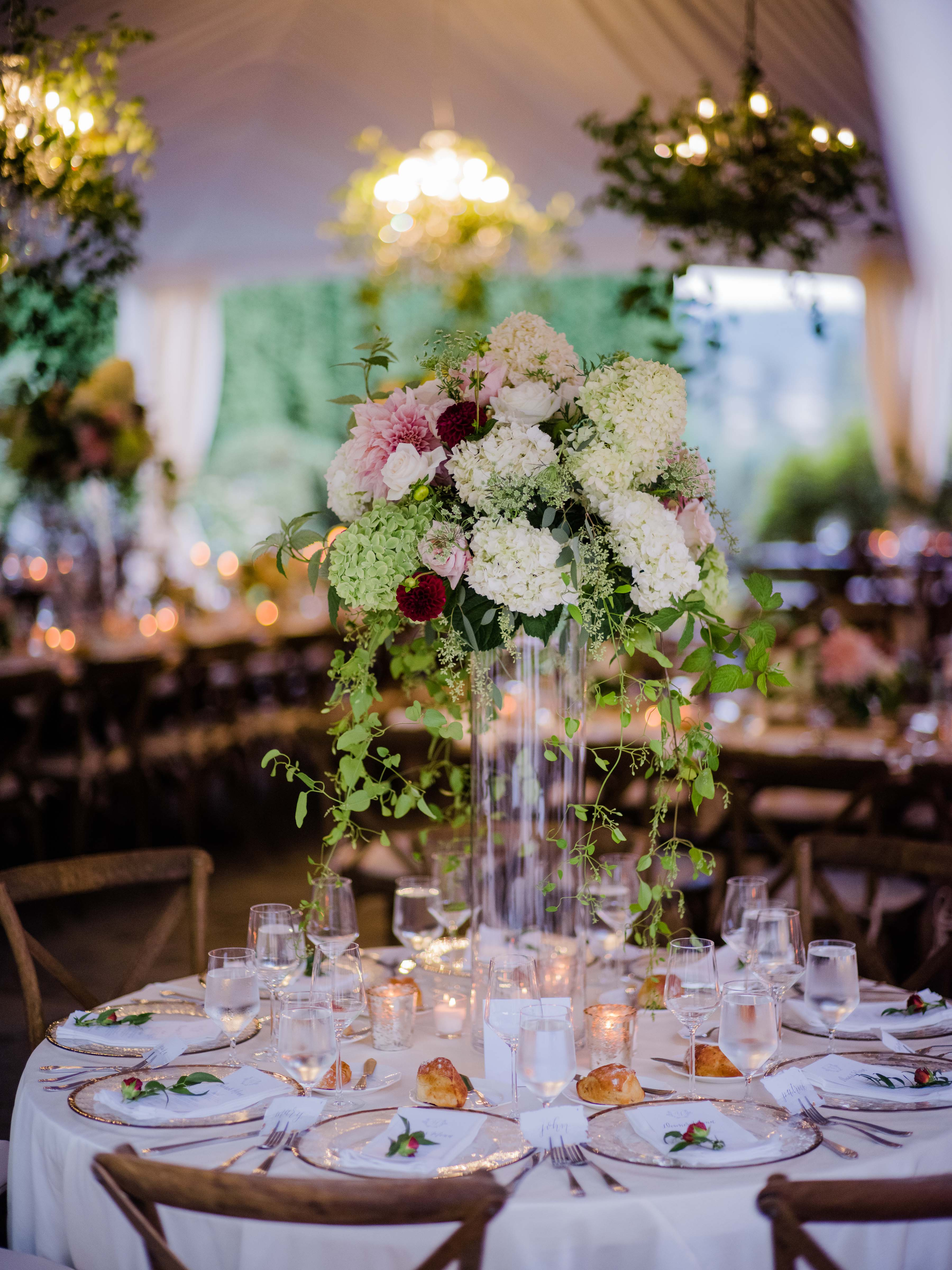 centerpiece at wedding reception