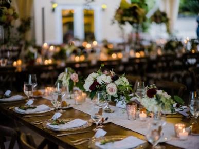 flower centerpieces at wedding