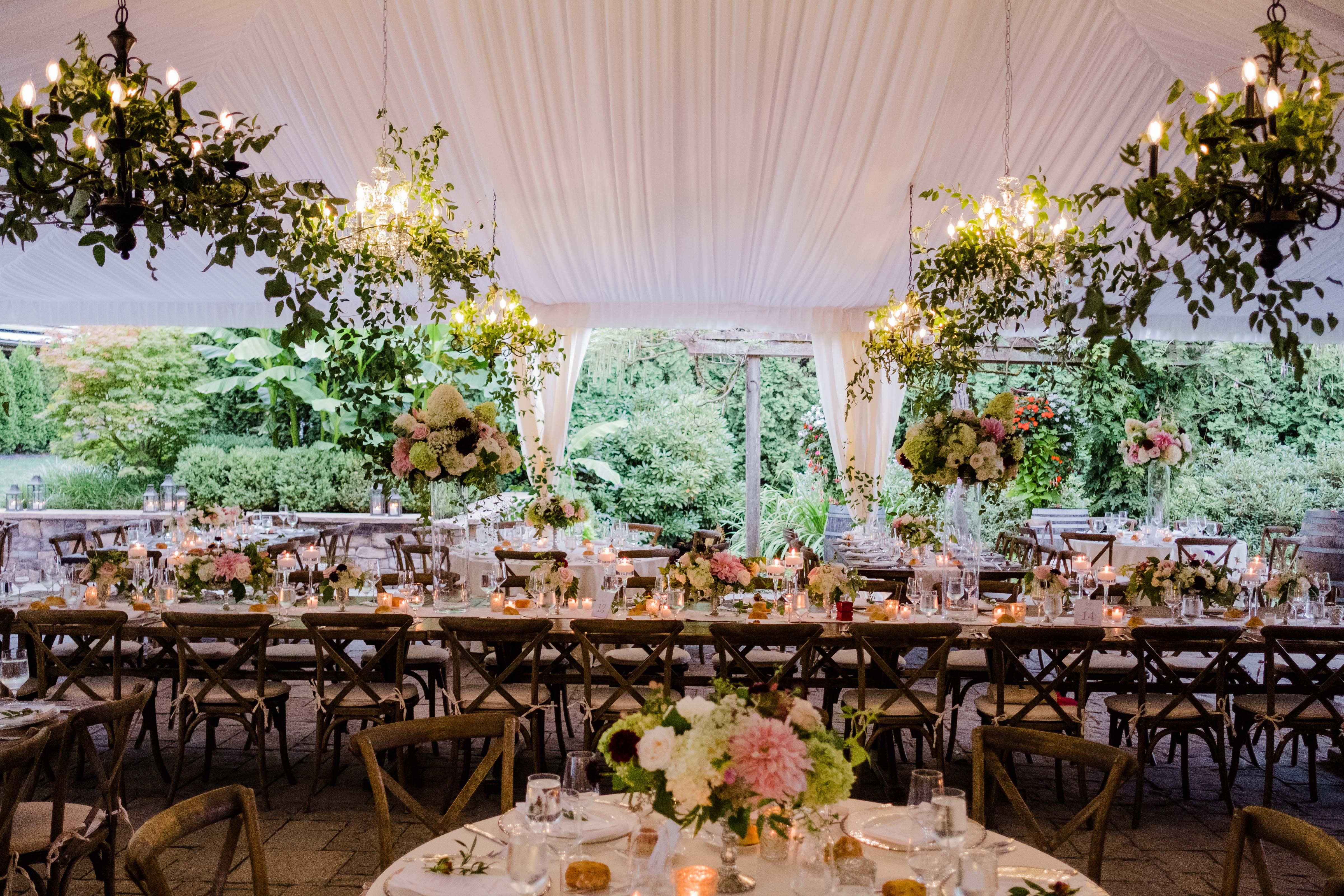 wedding reception at Chateau Lill