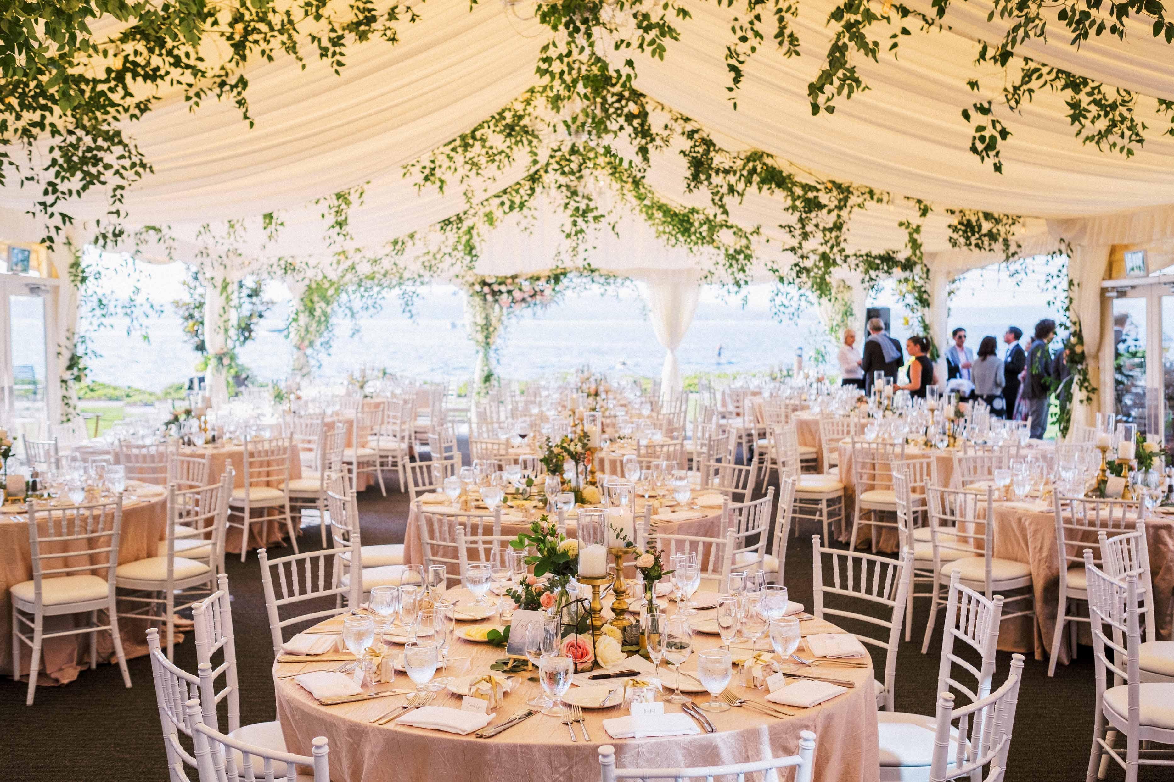 Reception for a Woodmark Hotel wedding