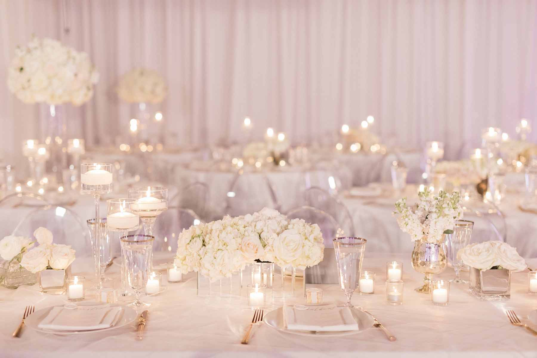 Modern white wedding at Canvas Event Space Seattle