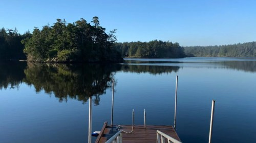 Floras Lake House private boat dock