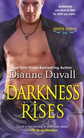 book cover for Immortal Guardians 4 - Darkness Rises by Dianne Duvall
